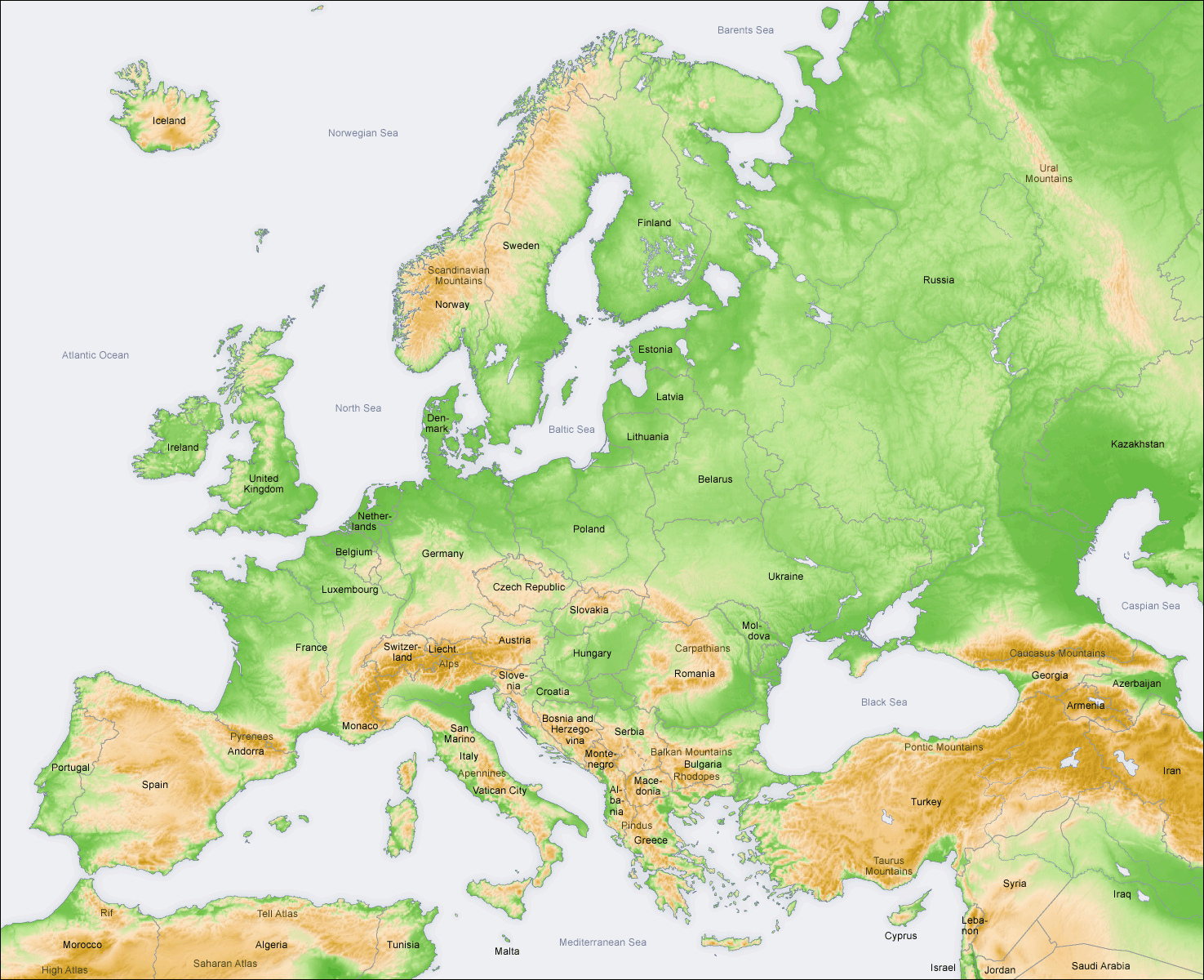 EUROPEAN GEOGRAPHY PHYSICAL RELIEF El Blog del Maestro Ra l